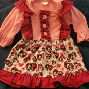 Mickey and Minnie Valentine's day dress